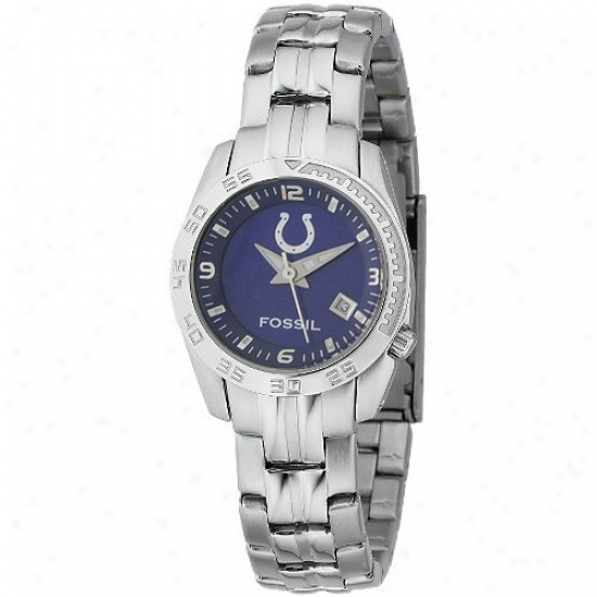 Colts Watch : Fossil Colts Ladies Stainless Steel Analog Spport Watch