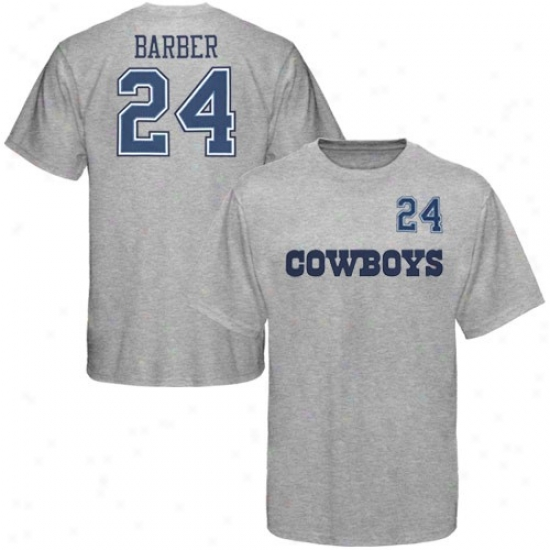 Cowboys Apparel: Cowboys #24 Marion Barber Ash Game Gear Player T-shirt