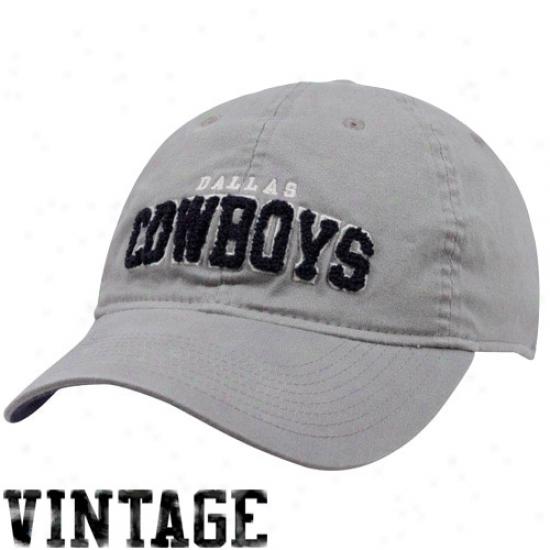 Cowb0ys Cap : Cowboys Gray Fayetteville Flex Cap
