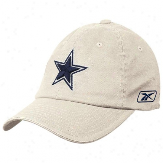 Cowboys Gear: Reebok Cowboys Stone Basic Logo Flex Slouch Hat