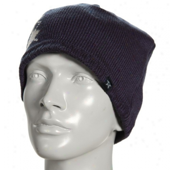 Cowboys Hats : Cowboys Ladies Navy Blue Sponge Knit Beanie