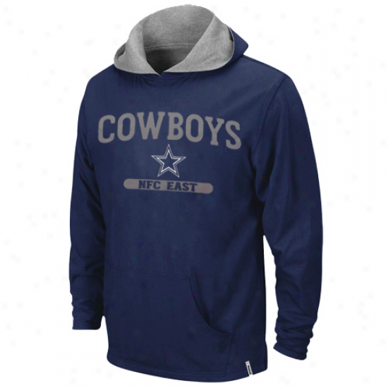 Cowboys Hoodies : Reebok Cowboys Navy Blueash Home And Away Reversible Pullover Hoodies