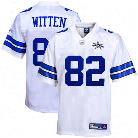 Cowboys Jersey : Reebok Jason Witten Cowboys 50th Anniversary Replica Jersey - White
