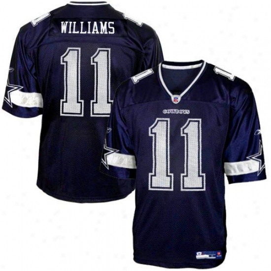 Cowboys Jersey : Reebok Nfl Equipment Cowboys #11 Roy Williams Navy Pedantic  Replica Jersey