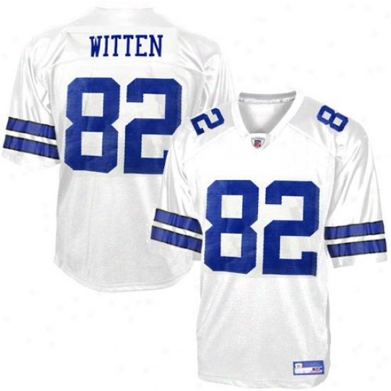 Cowboys Jersey : Reebok Nfl Equipment Cowboys #82 Jason Wjtten Youth White Replica Football Jersey
