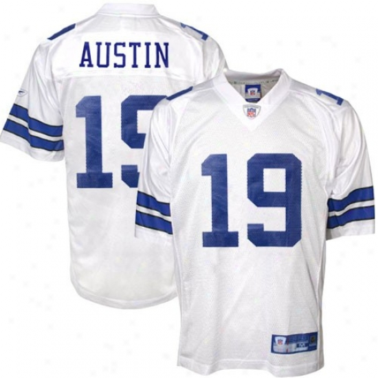 Cowboys Jerseys : Reebok Nfl Equipment Cowboys #19 Miles Austin White Replica Football Jerseys