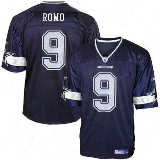 Cowboys Jerseys : Reebok Nfl Equipment Cowboys #9 Tony Romo Navy Blue Preschool Replica Football Jerseys