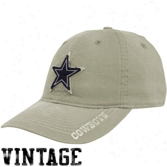 Cowboys Merchandise: Reebok Cowboys Gray Karachi Slouched Flex Fit Hat