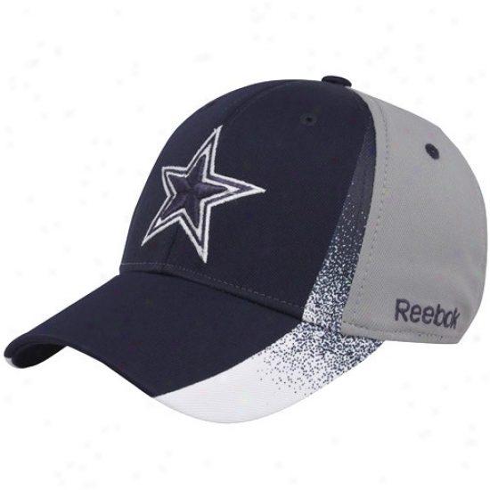 Cowboys Merchandise: Reebok Cowboys Navy Blue-gray Madrid Flex Fit Hat