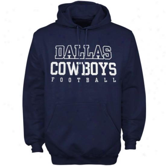 Cowboys Sweat Shirt : Reebok Cowboys Navy Blue Use Sweat Shirt