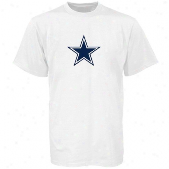 Cowboys Tees : Reebok Cowboys Youth White Logo Premier Tees