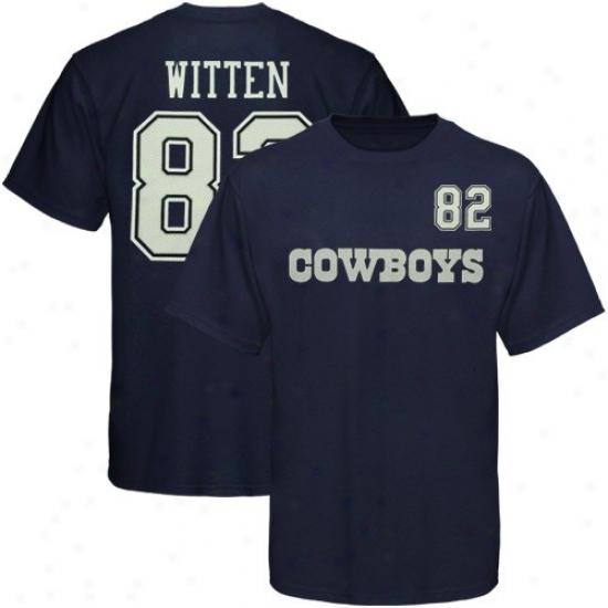 Coeboys Tshirts : Cowboys #82 Jason Witten Navy Blue Player Tshirts