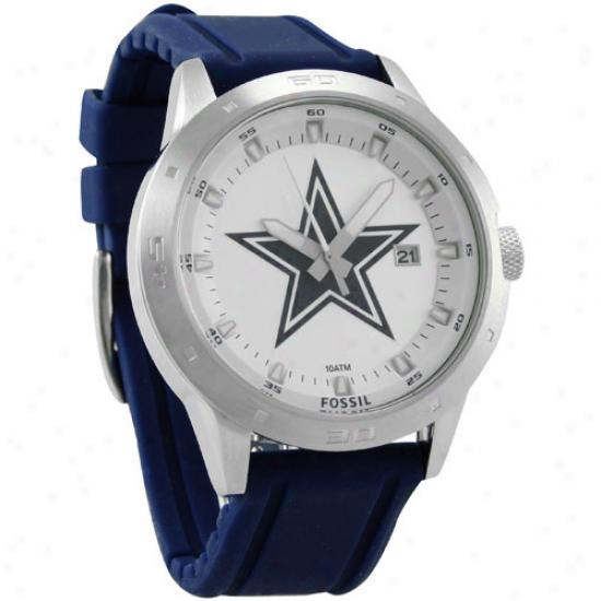 Cowboys Watch : Fossil Cowboys Navy Blue Polyurethane Band Watch