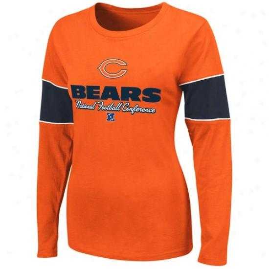Da Bears Attire: D aBears Ladies Orange Prized Possession Ii Long Sleeve T-shirt