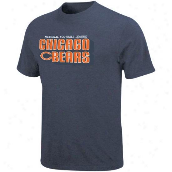 Da Bears Attire: Da Bears Navy Blue Defensive Front Heathered T-shirt