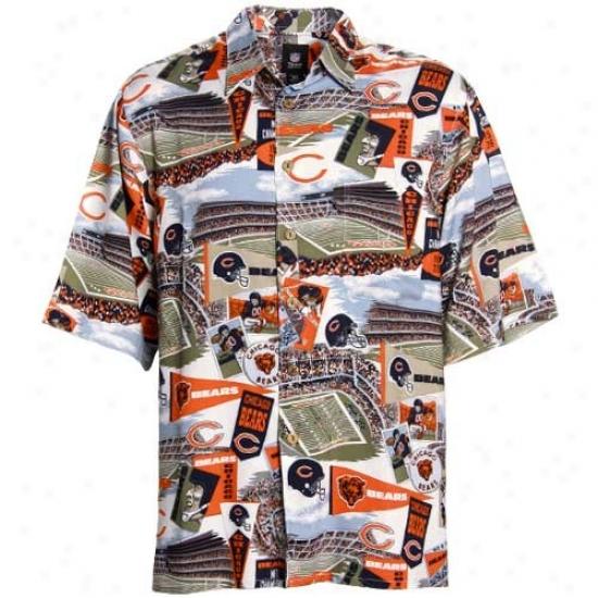 Da Bears Clothing: Reyn Spooner Da Bears Scenic Print Hawaiian Button-up Shirt