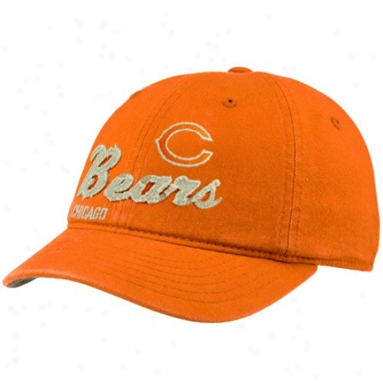 Da Bears Hat : Reegok Da Bears Ladies Orange Charlie Slouch Adjustable Hat