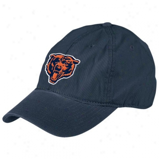 Da Bears Hat : Reebok Da Bears Navy Blue Retro Basuc Logo Slouch Adjustable Hat