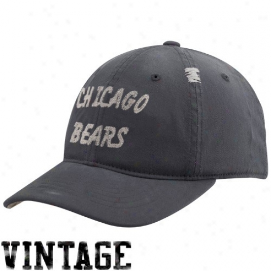 Da Bears Commodities: Reebok Da Bears Navy Blue Vintage Flex Slouch Hat