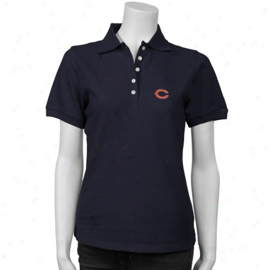 Da Bears Polo : Cutter & Male  Da Bears Navy Blue Ladies Toirnament Polo