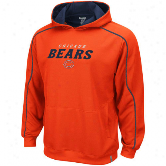 Da Bears Stuff: Reebok Da Bears Orange Active Plulover Hoody Sweatshirt