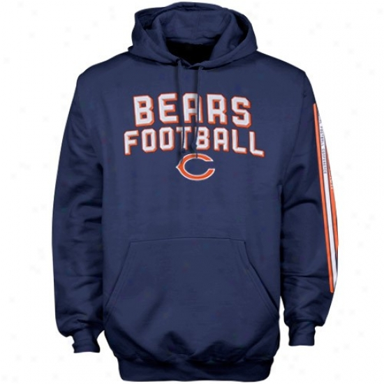 Da Bears Sweatshirt : Reebok Da Bears Navy Blue Stacks Sweatshirt
