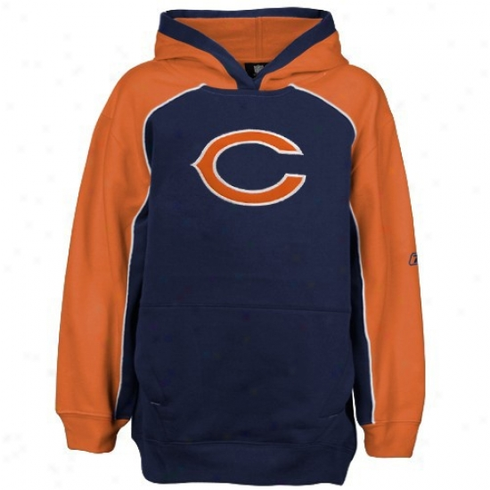 Da Bears Sweatshirts : Reebok Da Bears Navy Blue Franchise Sweatshirts