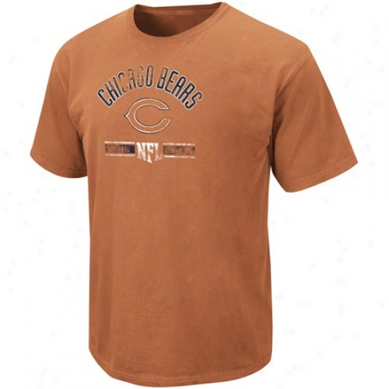Da Bears T Shirt : Da Bears Orange Vintage Stadium Wear T Shirt