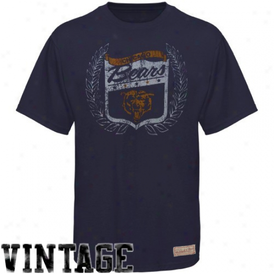 Da Bears Tees : Mitchell & Ness Da Bears Navy Blue Vintage Premium Tees