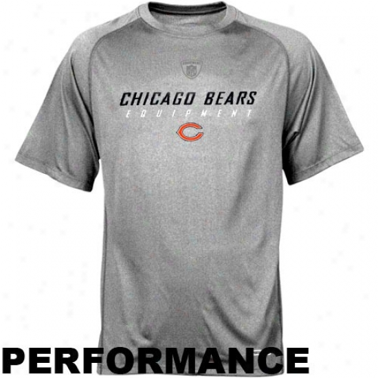 Da Bears Tees : Reebok Nfl Equipment Da Bears Ash Equipspeed Performance Tees