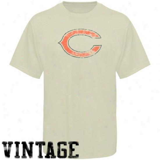 Da Bears Tshirts : Reebok Da Bears Youth Cream Main Identity Vintage Tshirts