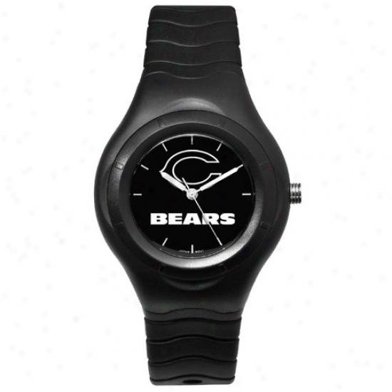Da Bears Watch : Da Bears Black Shadow Team Logo Sport Watch