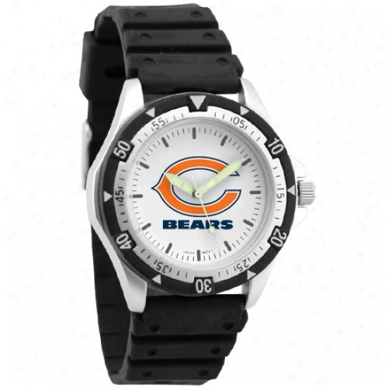 Da Bears Watches : Da Bears Men's Black O0tuon Watcges
