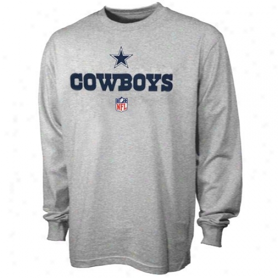 Dallas Cowboy Apparel:D allas Cowboy Youth Ash 2009 Team Lockup Long Sleeve T-shirt
