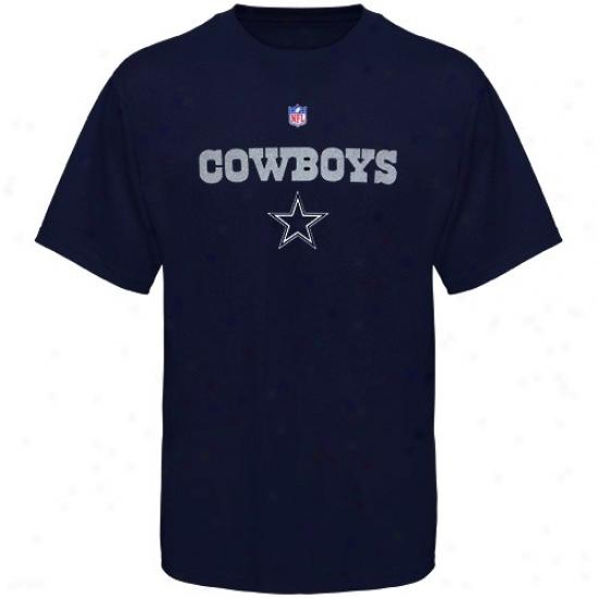 Dallas Cowboy Apparel: Dallas Cowboy Youth Navy Blue Authentic T-shirt