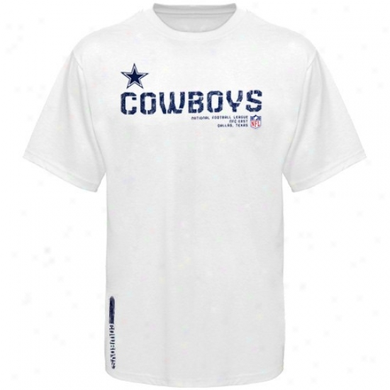 Dallas Cowboy Attire: Dallas Cowboy White Sideline Tacon T-shirt