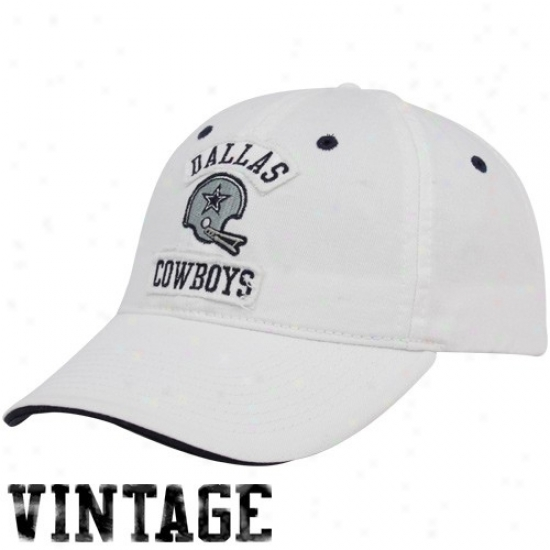 Dallas Cowboy Caps : Dallas Cowbot White Arch Legends Adjustable Caps
