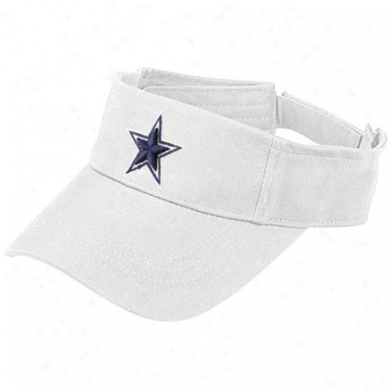 Dallas Cowboy Hat : Reebok Dallas Cowboy White Basjc Visor