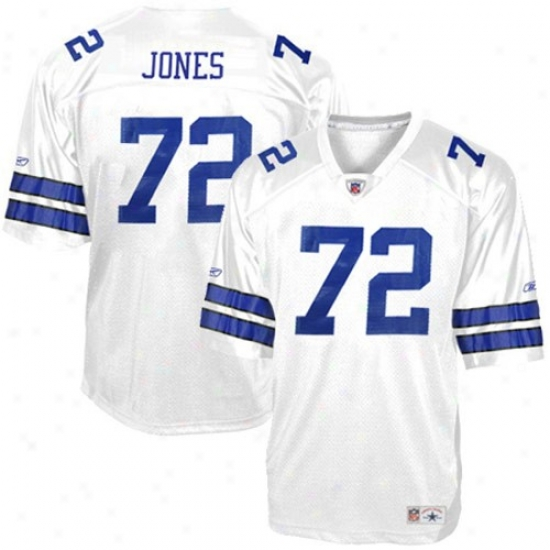 Dallas Cowboy Jersey : Reebok Dallas Cowboy #72 Ed ''too Tall'' Jones White Replica Legends Football Jersey