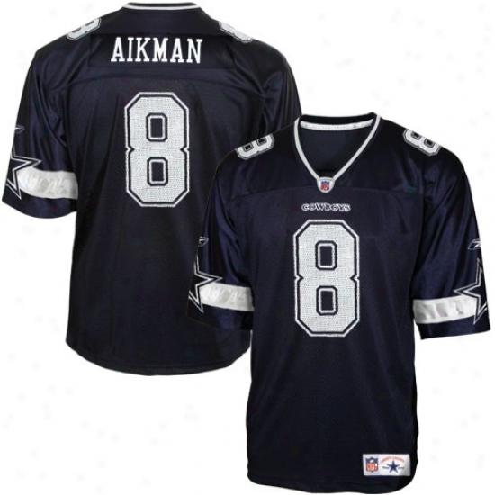 Dallas Cowboy Jersey : Reebok Dallas Cowboy #8 Troy Aikman Navy Blue Legends Football Jersey