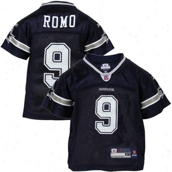 Dallas Cowboy Jersey : Reebok Dallas Cowboy #9 Tony Romo Navy Blue Tosdler Replica Football Jersey