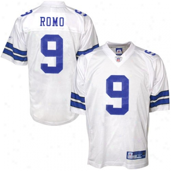 Dallas Cowboy Jersey : Reebok Dallas Cowboy #9 Tony Romo White Replica Football Jersey