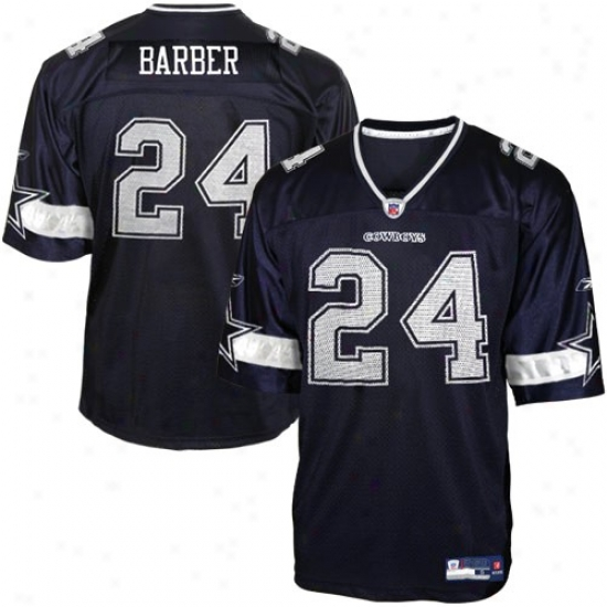 Dallas Cowboy Jersey : Reebok Nfl Equipment Dallas Cowboy #24 Marion Barber Youth Navy Blue Replica Football Jersey