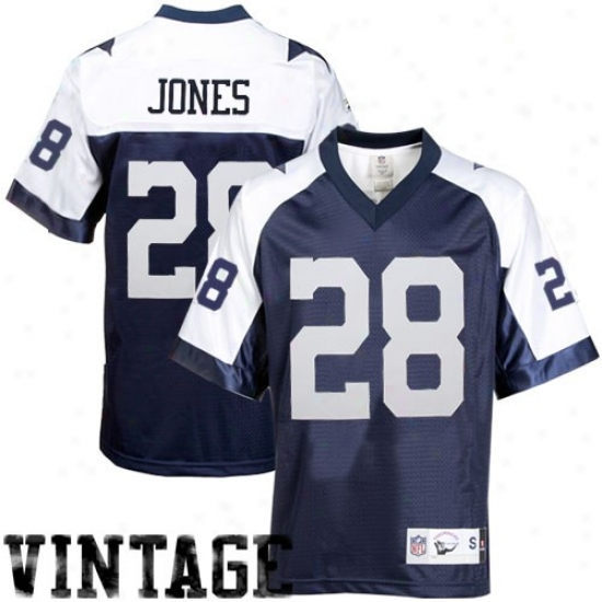 Dallas Cowboy Jerseys : Reebok Felix Jones Dallas Cowboy Premier Throwback Jerseys - Navy Blue