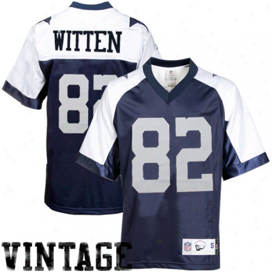 Dallas Cowboy Jerseys : Reebok Jason Witten Dallas Cowboy Premier Tacklle Twill Throwback Jerseys - Navy Blue
