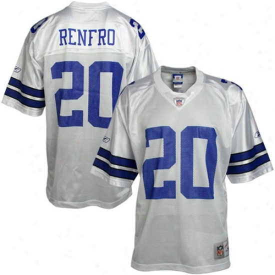 Dallas Cowboy Jerseys : Reebok Nfl Equipment Dallas Cowboy #20 Mel Renfro White Replica Football Jerseys