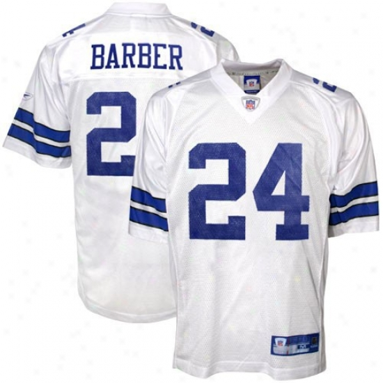 Dallas Cowboy Jerseys : Reebok Nfl Equipment Dallas Cowboy #24 Marion Barber Youth White Replica Football Jerseys