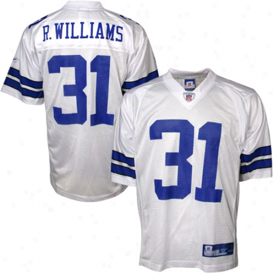 Dallas Cowboy Jerseys : Reebok Nfl Equipment Dallad Cowboy #31 Roy Williams White Autograph copy Football Jerseys