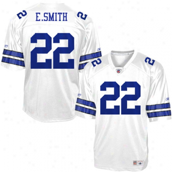 Dallas Cowboy Jerseys : Reebok Nfl Equipment Dallas Cowboy #22 Emmitt Smith White Legends Replica Football Jerseys