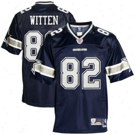 Dallas Cowboy Jerseys : Reebok Nfl Equipment Dallas Cowboy #82 Jason Witten Navy Blue Premier Tackle Twill Jerseys